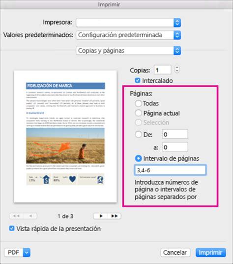 Imprimir un documento en Word para Mac   Word for Mac