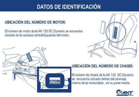 Improntas Moto AKT Dynamic R 125 | tecnimotos.comPrecios ...