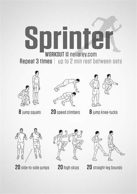 Improve your running speed with the Sprinter Workout. The ...
