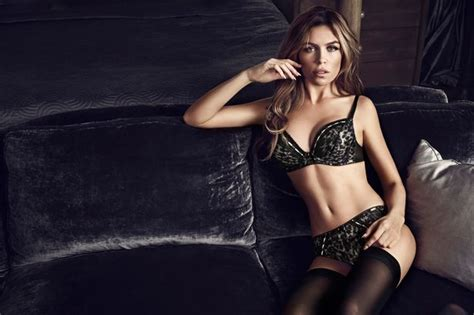 In pictures: Abbey Clancy models Ultimo s new lingerie ...