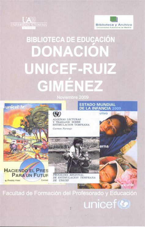 Inauguración Fondos UNICEF-Joaquín Ruiz Giménez ...