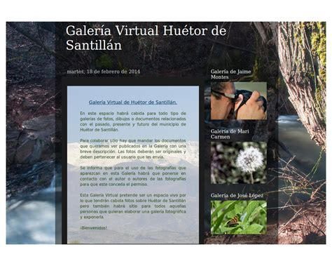 Inauguración Galeria Virtual Huétor de Santillán – Huétor ...