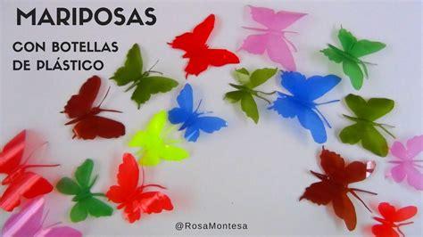 Increíbles mariposas de colores hechas con botellas de ...