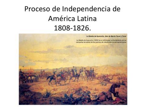 Independencia de america latina clase jueves