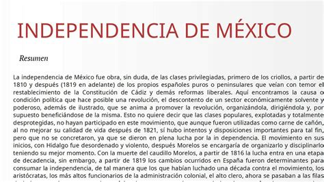 Independencia de México.