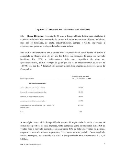 Independencia Plano Recuperacao Judicial 20091030 Port