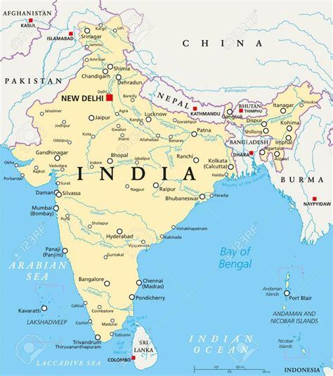 India actual mapa Actual India mapa (Sur de Asia - Asia)