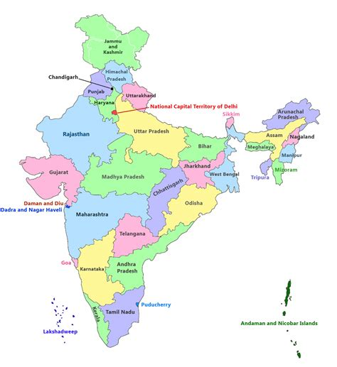 India Map Latest 2016