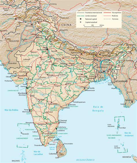 Índia Mapa Cidades