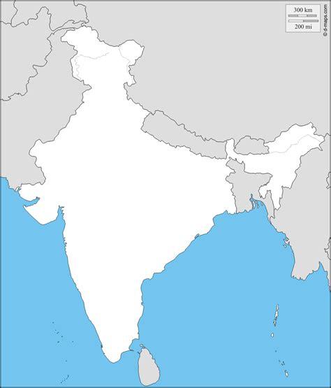 India mappa gratuita, mappa muta gratuita, cartina muta ...