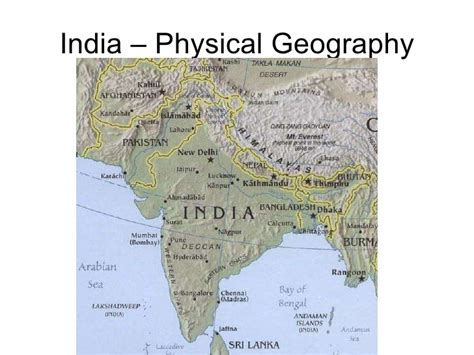 India – Physical Geography