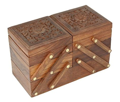Indian Jewelry Box for Women and Girls Wood  Vintage ...