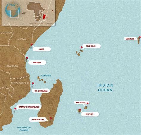 Indian Ocean Island Map | Rhino Africa