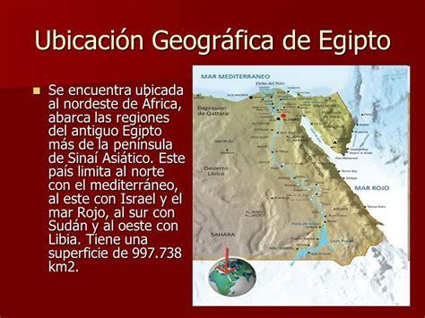 Indica la ubicacion geografica de egipto - Brainly.lat