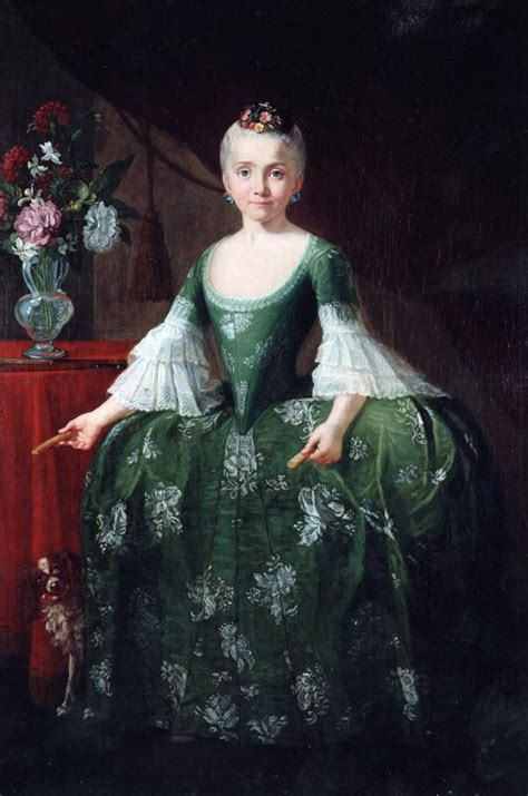 Infanta Maria Luisa de Bourbon with a vase of flowers by ...