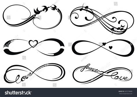Infinity Love Forever Symbol Stock Vector 287278808 ...