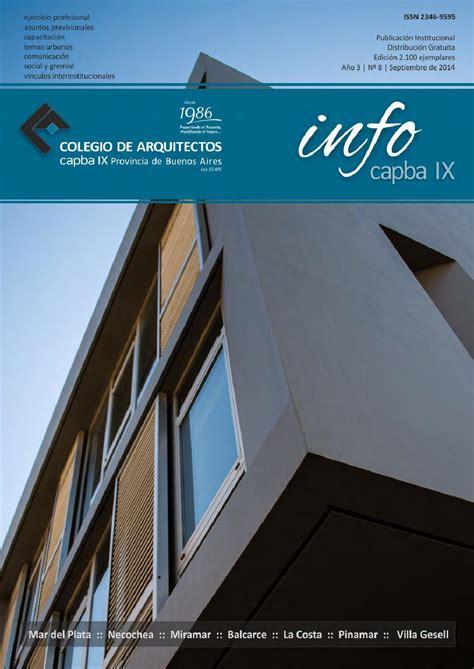 Infocapba Nº 8 by Colegio de Arquitectos de la Provincia ...