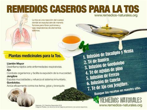 Infografía Remedios para la Tos – Remedios Caseros