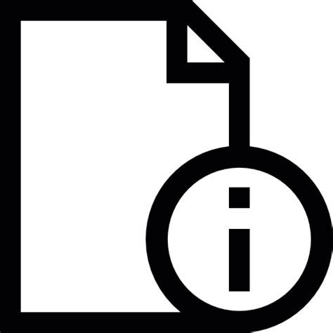 Información de documento   Iconos gratis de interfaz