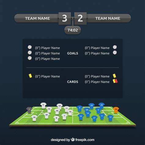 Información de partido de fútbol | Descargar Vectores Premium