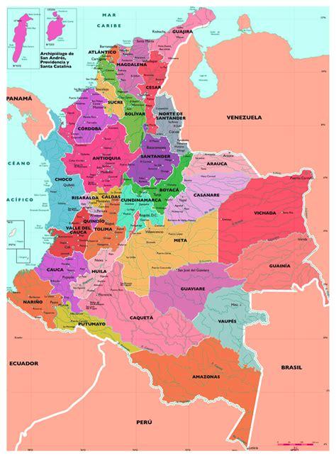Información e imágenes con Mapas de COLOMBIA Político ...