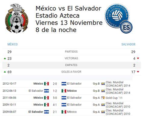 Información previa México vs El Salvador Rusia 2018 ...