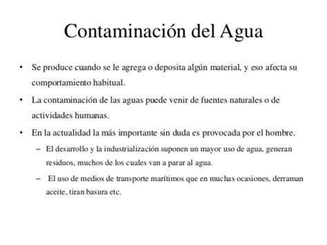Información sobre la Contaminación Ambiental del Agua ...