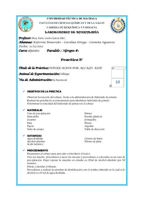 Informe hidroxido de potasio