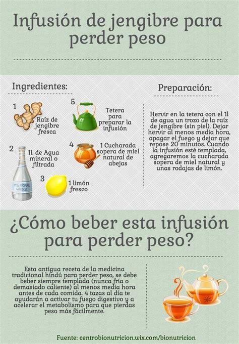Infusión de jengibre para perder peso   Infografías y Remedios