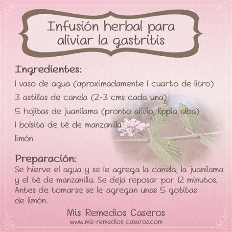 Infusión herbal para aliviar la gastritis - Mis Remedios ...