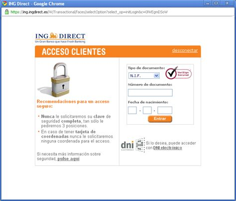 ing direct acceso clientes Gallery