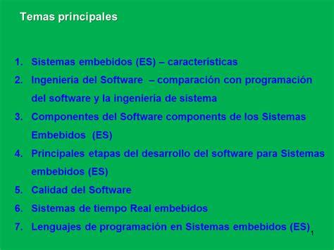ingenieria de software o sistemas ingenier 237 a del ...