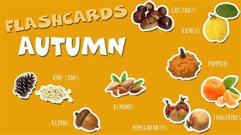 Inglés para niños   Otoño   Autumn   Flashcards para niños ...