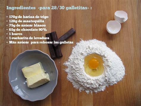 ingredientes de las galletas