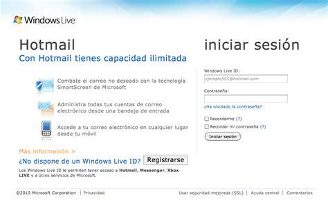 Iniciar Sesión Correo Hotmail: Iniciar sesión en el correo ...