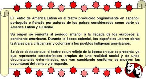 INSEDMAG-LECTORES: HISTORIA DEL TEATRO EN LATINOAMÉRICA