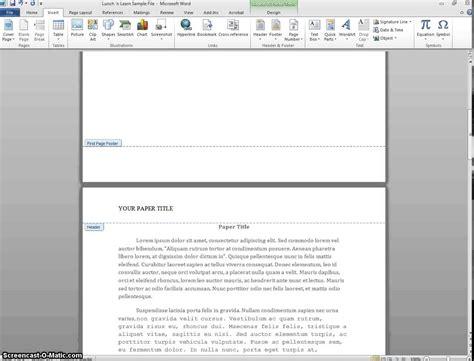Inserting APA Headers in Word 2010 (Windows) - YouTube