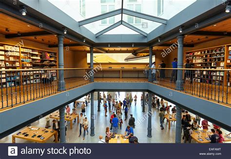 Inside the new Apple store located at the Puerta del Sol ...