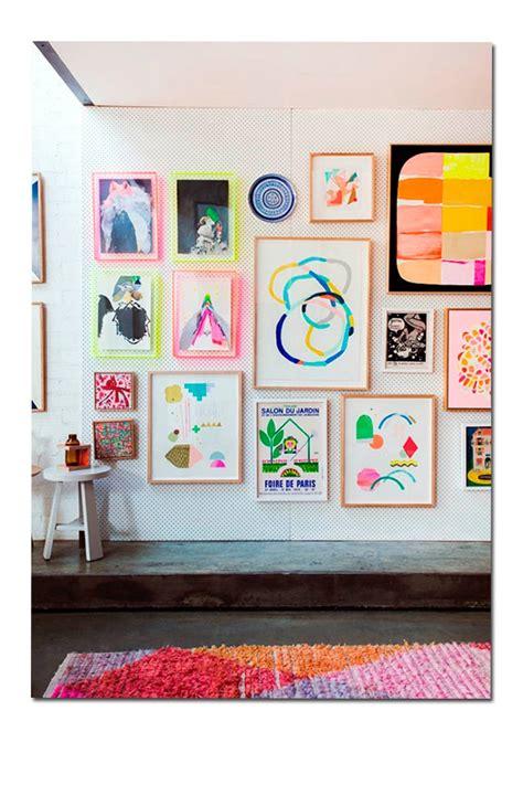 Inspiración en decoración: paredes con cuadros