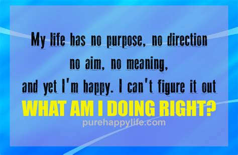 Inspirational Quote: My life has no purpose, no direction ...