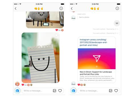 Instagram Direct Now Allows Web Links And Landscape Format