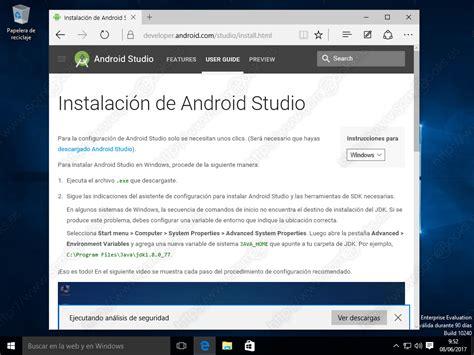 Instalar Android Studio en Windows 10 (Parte I) - SomeBooks.es