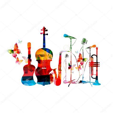 Instrumentos de la música y mariposas — Archivo Imágenes ...