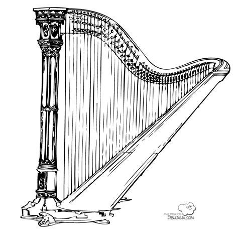 Instrumentos de música clásica para colorear | Colorear ...