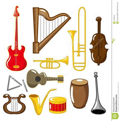 Instrumentos Musicais Dos Desenhos Animados Imagens de ...