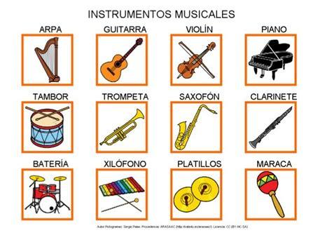 Instrumentos musicales | Materiales para terapia del habla ...