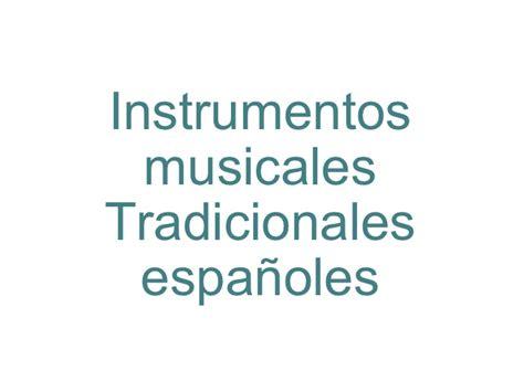 Instrumentos tradicionales españoles
