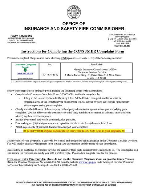 Insurance Commissioner Complaint GA | Diminished Value Car ...