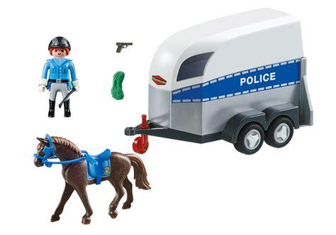 Int. Berittene Polizei mit Anhänger   6922   PLAYMOBIL ...