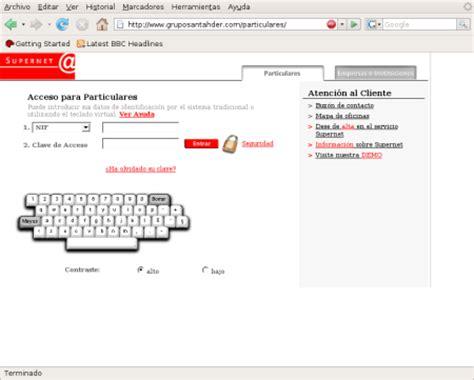Intento de phishing a clientes del Banco Santander
